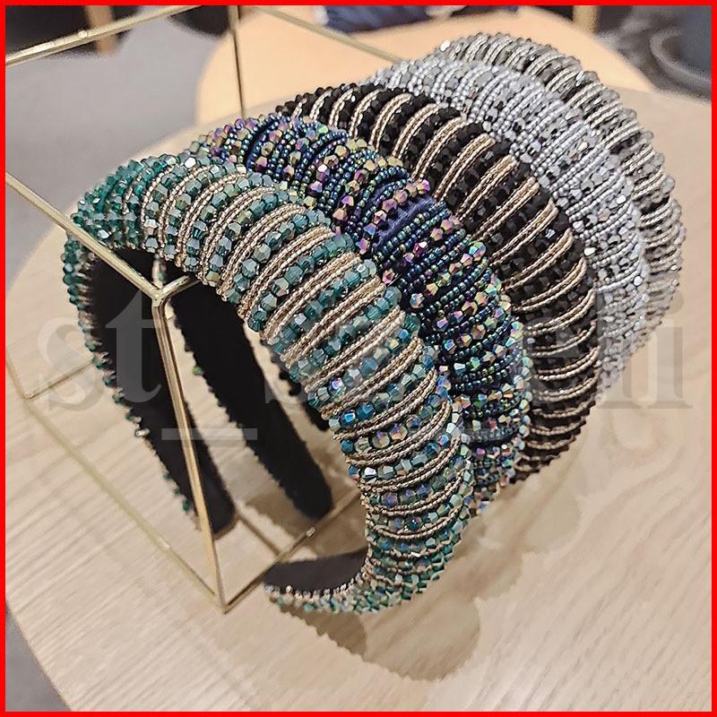 11 Styles Plein cristal Bandeaux pour les femmes Lady matelassé brillant diamant Bandeau cheveux Hoop Fashion Accessoires cheveux