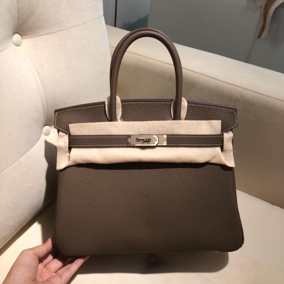 al por mayor, la mitad hecha a mano Togo diseño de cuero briikin bag30cm, también tienen el tamaño de 25 35cm, hilo de cera, tienen oro y plata de hardware, entrega rápida