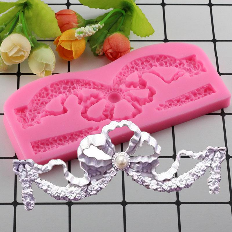 Mujiang 3D Crown Silicone Molds Baby Birthday Cake Decorating Fondant Mold Candy Chocolate Gumpaste Mould Cake Baking