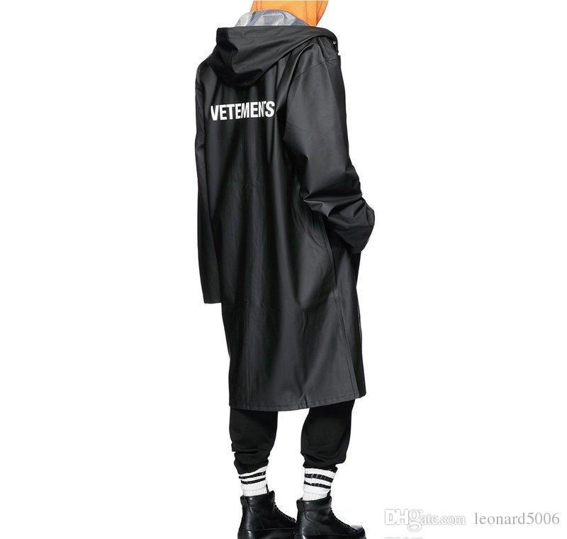Vêtements полицаи НЕГАБАРИТНЫЕ куртка Big Bang Расширенная дождевик Мужчины Женщины Ветровка Trench Водонепроницаемая куртка пальто