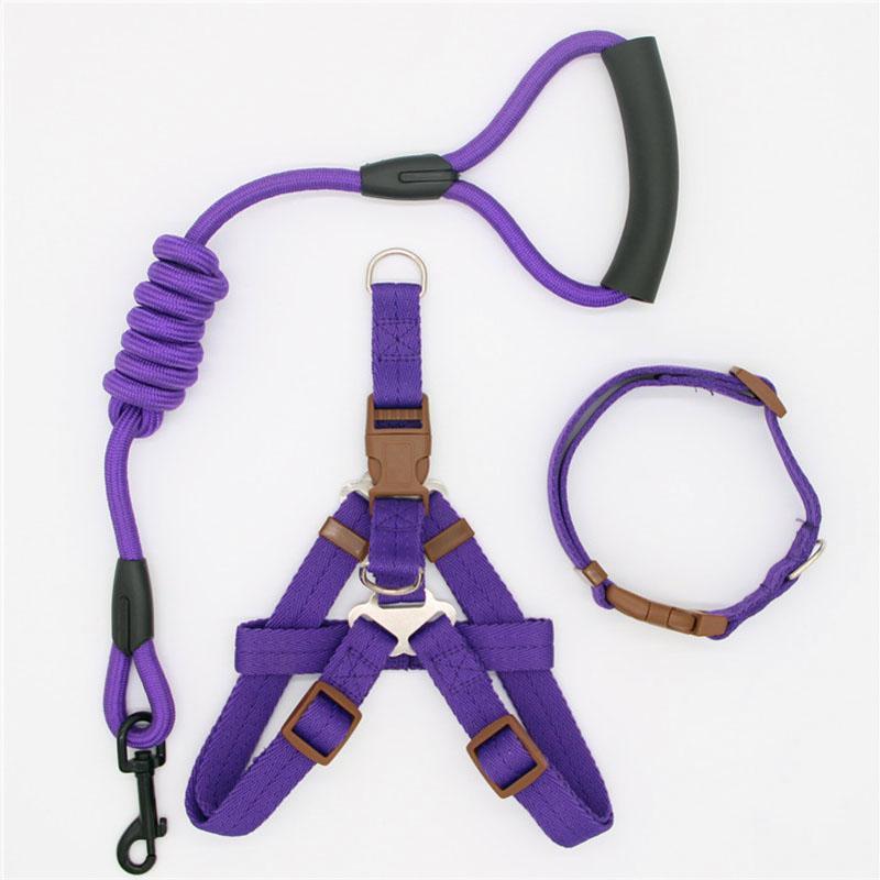 Trela Traction Rope arnês Pet para pequenos e grandes cão Pull ajustável Leash Dog Vest clássico Correndo Leash Collar Formação e Harness