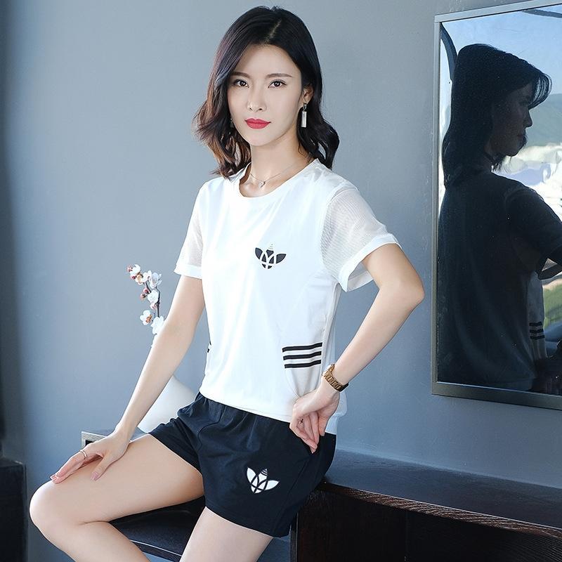 s5Ql8 el juego ocasional corto verano de deporte camiseta pantalones cortos de gran camiseta y pantalones cortos de dos piezas s MSNiI moda de 2020 nuevas mujeres flojas de la manga