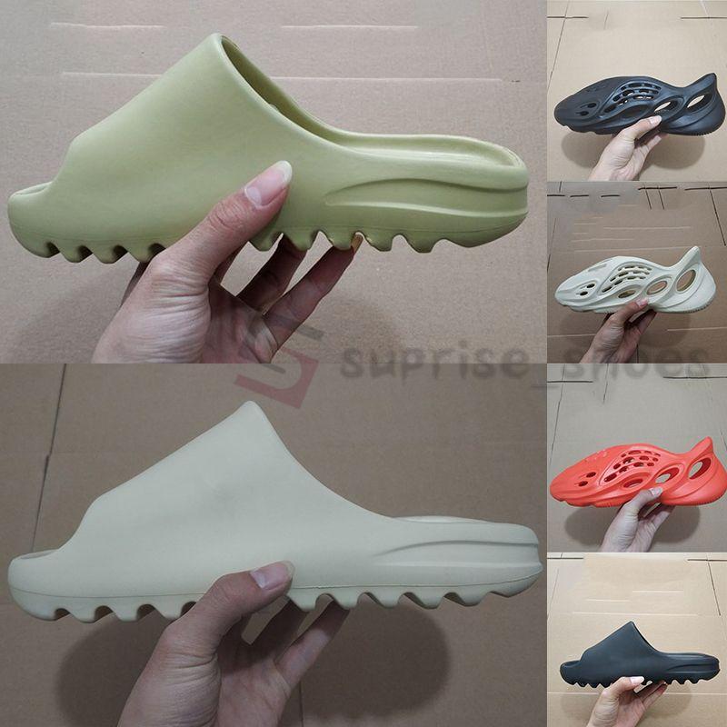 Adidas Yeezy Yezzy Foam Runner Sandale Kanye Slides Mode pantoufle Designer Slides Knochen Desert Sand Black Earth Harz Mens-Frauen-Slipper