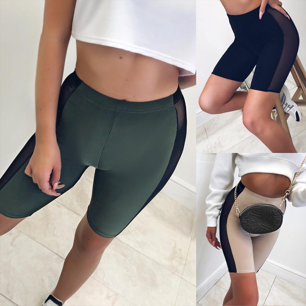 Femmes Cyclisme Shorts Danse Gym Biker Lycra filles actif Casual Sport élastique taille haute Short Summer
