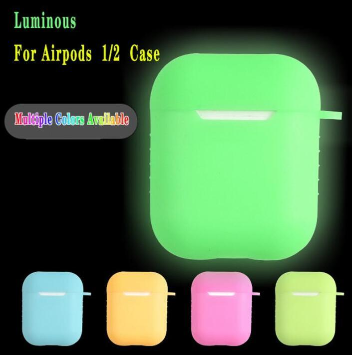 2021Luminous Protective Case For Airpods Pro Universal Dustproof Drop-proof Bluetooth Headset Protective Case With Hook Case For Airpods Pro
