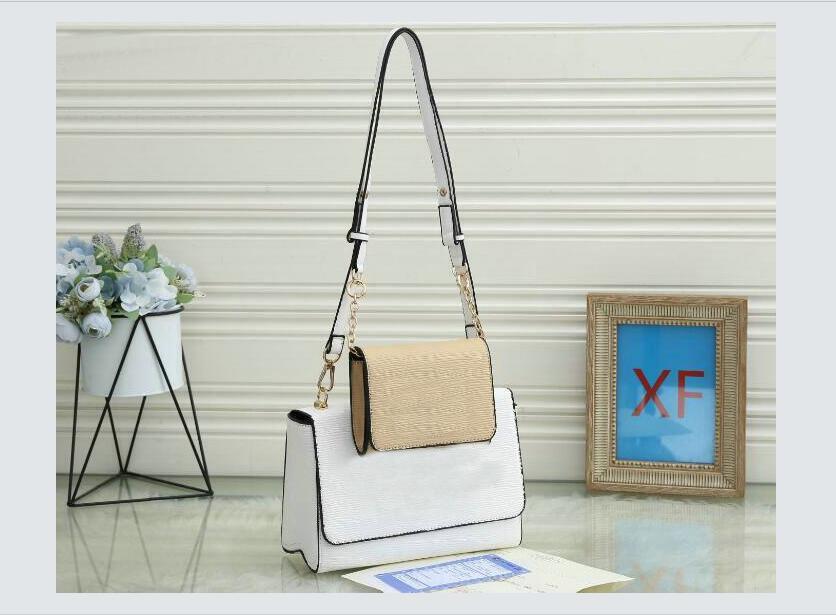 2 unids / set Damas bolso de mano Hombro Moda 0016 # Patrón de piedra patrón de cuero compuesto bolsas de mujer Mensajero Crossbody Bag Bols Bags JCVMF