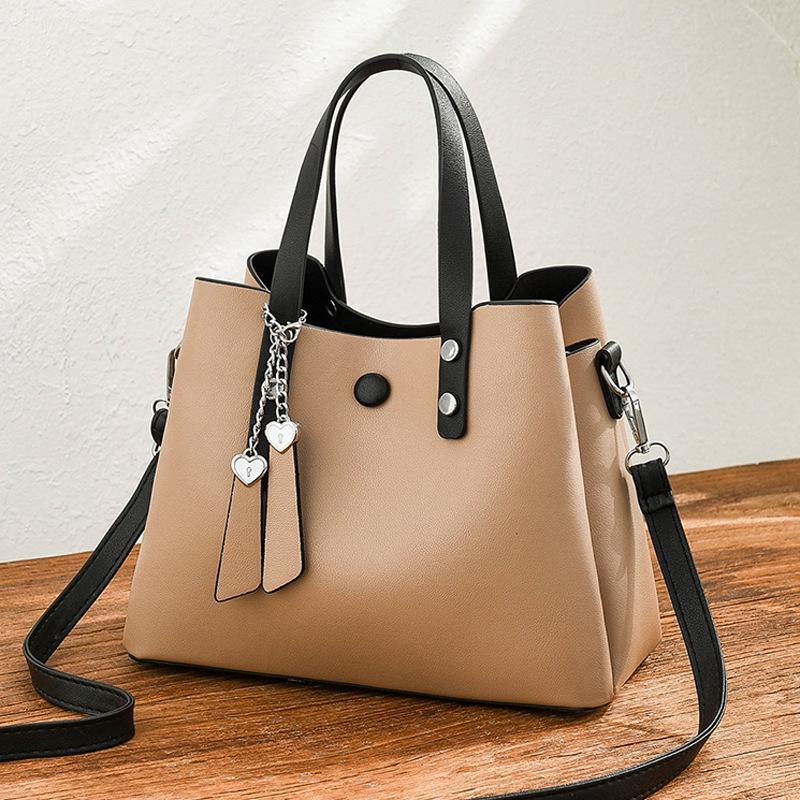 Женская сумка Летняя сумка Женский Новый стиль Большой модный плечо Мягкая кожаная плечо