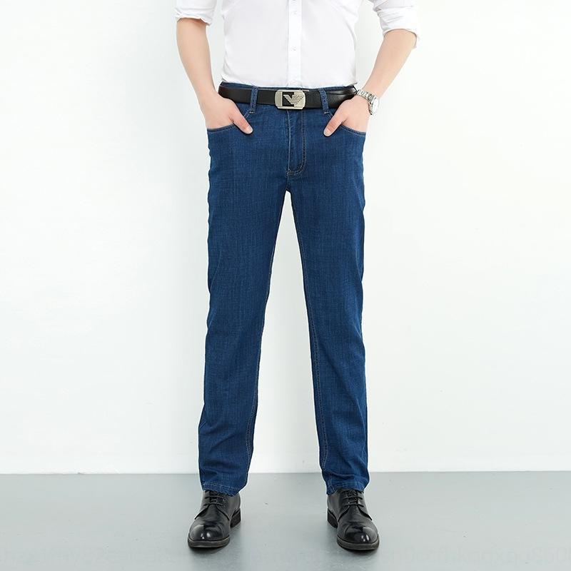 NtDUj Fp53J perder estilo reta coreano e algodão ocasional outono calça jeans de algodão Calças Jeans calças stretch juventude dos homens novos