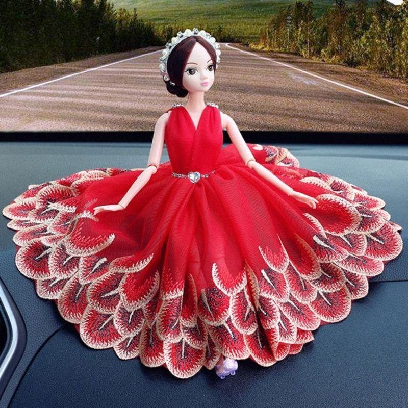 Автомобиль Украшение высокого качества свадебное платье принцессы украшения игрушки для автомобилей Dashboard Декор украшения Cute Автоаксессуары sFbe #