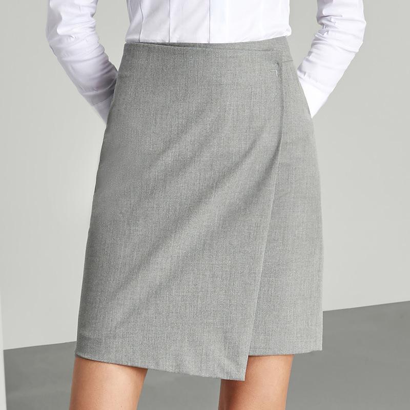 84 новых профессиональных женщин платье костюм юбка средней длины нерегулярные раскол OL вечернее платье весной и летом новый плюс размер Professional Plus Pl