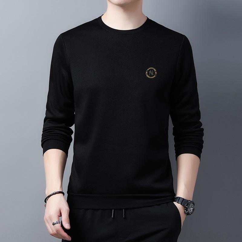 FM0cD 2020 с длинными рукавами и зима новой осенью футболка молодых и среднего возрастом мужчины шеи твердых моды свитер sweatersweater футболка цв