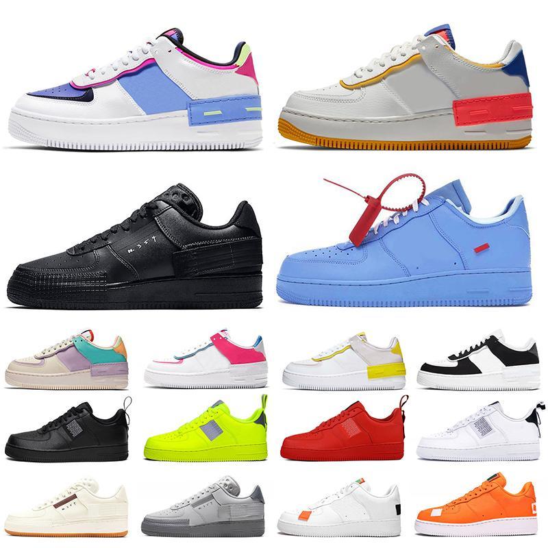 ayakkabı nike air force 1 shadow af1 off white n354 Kadın tasarımcı rahat ayakkabılar beyaz siyah mavi erkek eğitmenler düz spor ayakkabı platformu spor ayakkabı çalıştırmak