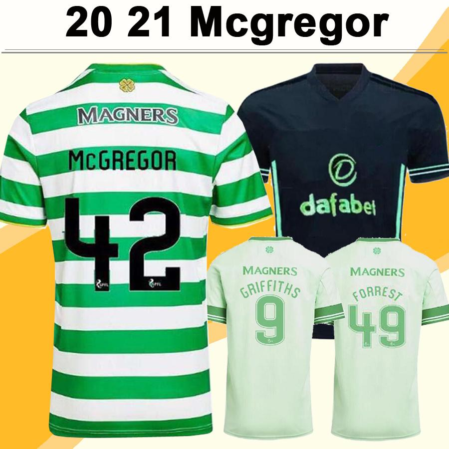 20 21 MCGREGOR GRIFFITHS Mens Soccer Jerseys KLIMALA SINCLAIR FORREST BROWN ROGIC CHRISTIE AJETI Home Away 3rd Football Shirt Short Sleeve