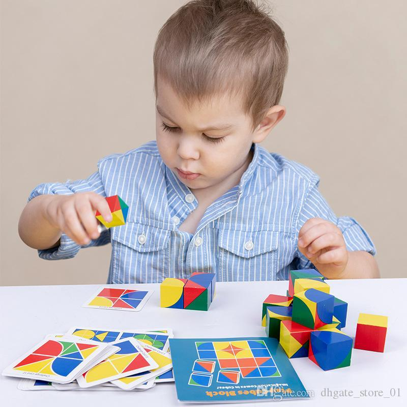 DIY Technic Building Blocks Early Children Wooden Cube Space Thinking Logic Game Intelligence educational Toy Imagine Bricks Gifts Kids Toys