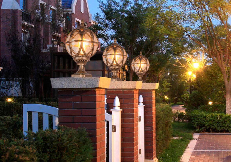 Fence Pillar Lamp Waterproof Villa Parking Courtyard Gate Column Light Pool Street Post Cap Lamp