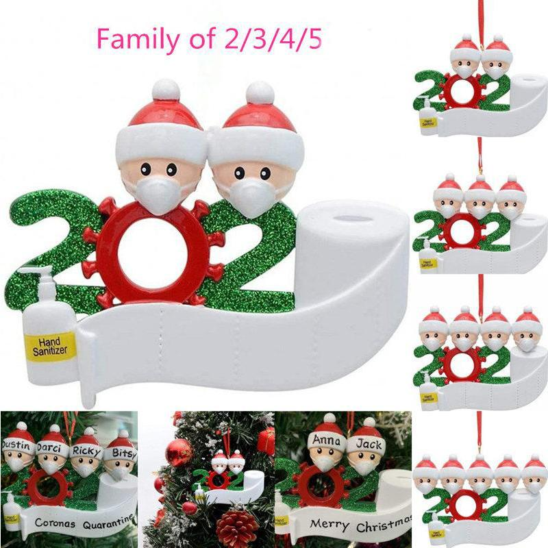 DHL Shipping New 2020 Christmas Birthdays Party Decoration Product Personalized Hanging Ornament Family Xmas Gift X592FZ