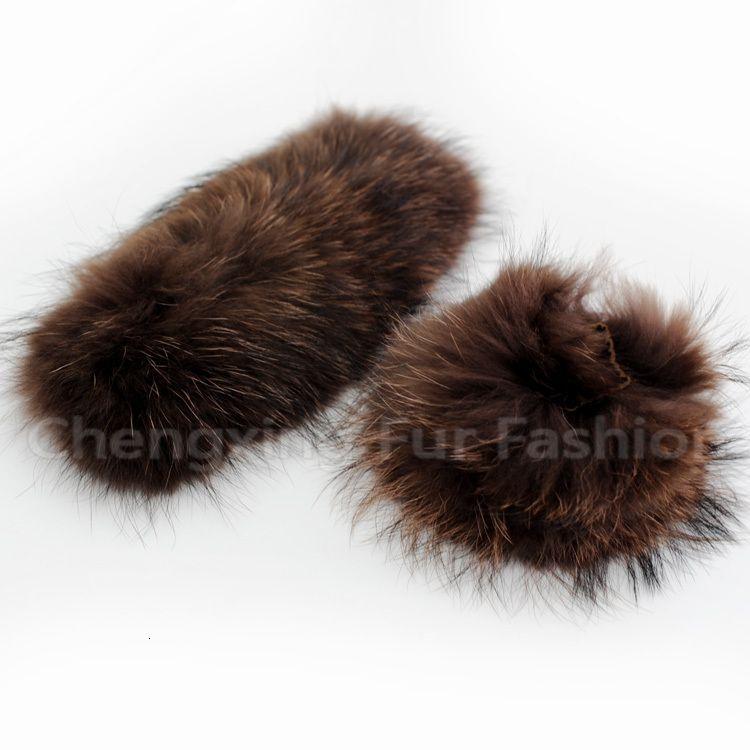 МАНЖЕТА-2D Мода аксессуар из натуральной шерсти енота манжета