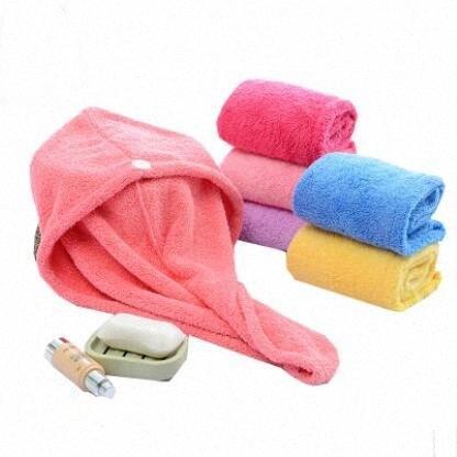 Shower Caps Magic Quick Dry Hair Microfiber Towel Lady GAirls Spa Bathroom Hats Quickly Dry Hair Hat Turban Wrap Bath Accessories ZYQA XU6e#