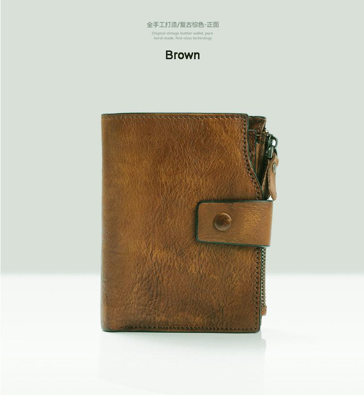 Мода Vintage натуральная кожа мужчины кошелек кожаный бумажник мужской кошелек вертикальный короткие деньги мешок мужской бумажник монета держатель кошелек карты