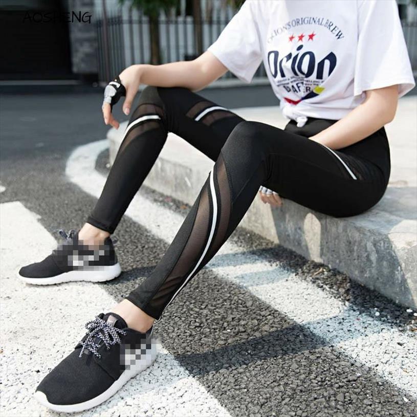 S XXXL Sexy Frauen-Gamaschen Gothic Insert Mesh-Entwurfs-Hose Schwarz Freizeit Plus Size Leggings Fashion Hose Fitness Leggings