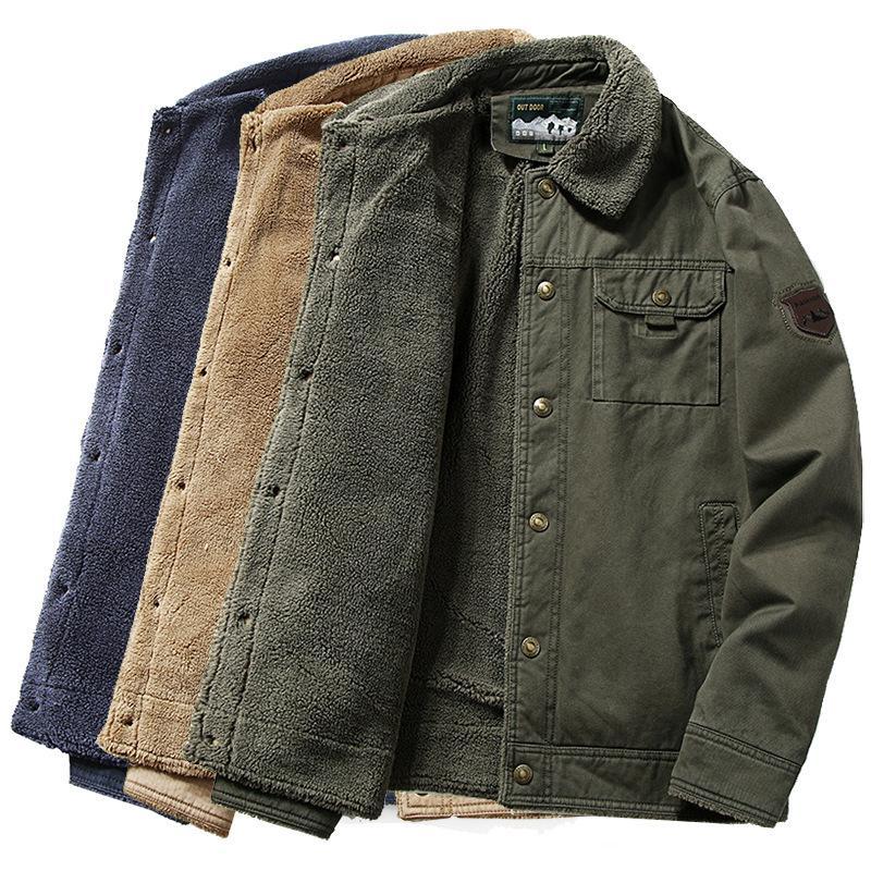 2020 de invierno polar chaqueta de los hombres Casual cuello de la piel caliente grueso abrigos Parkas rompevientos ropa chaqueta de bombardero más el tamaño 6XL