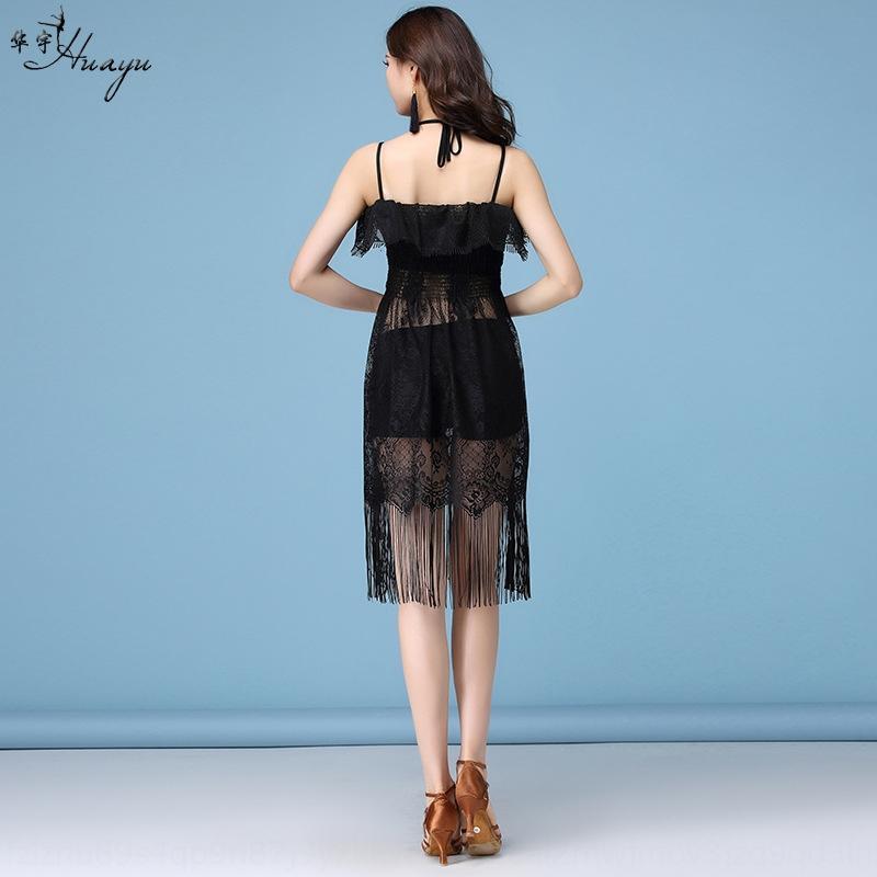 ATKMf кисточкая Юй Хуа одежда 2019 Нового Latin производительность Sling кружево завивки ресниц кружево танец строп платье для женщин