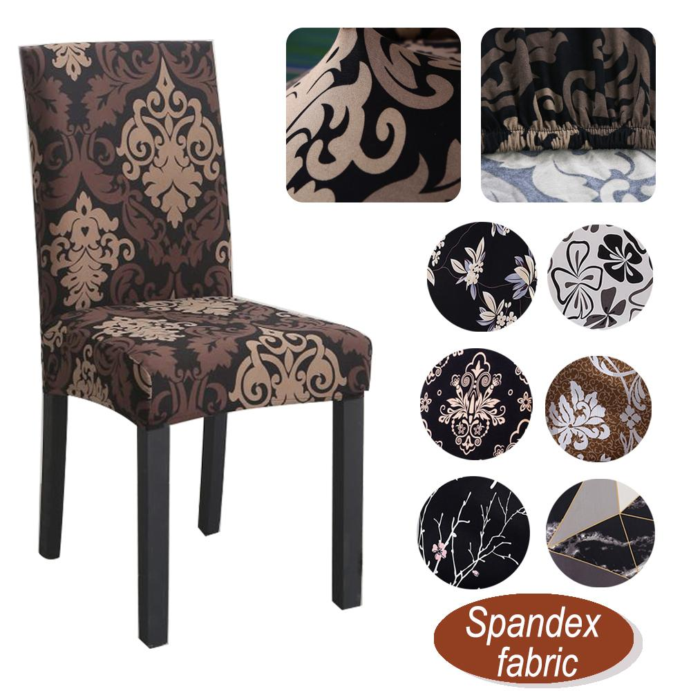 Stretch Spandex Chair Cover Universal Elastic Printing Slipcover for Dining Room Seat Chair Covers Banquet Kitchen Wedding Case T200901