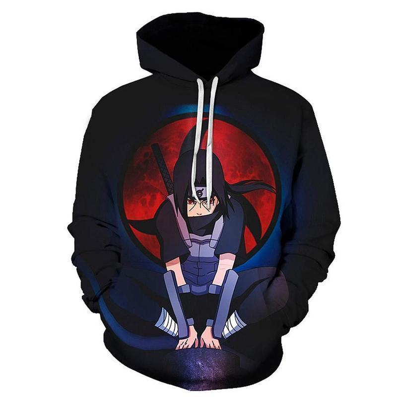 Silver Basic Mens TV The Japanese Anime Naruto Sasuke 3D Novelty Summer Set