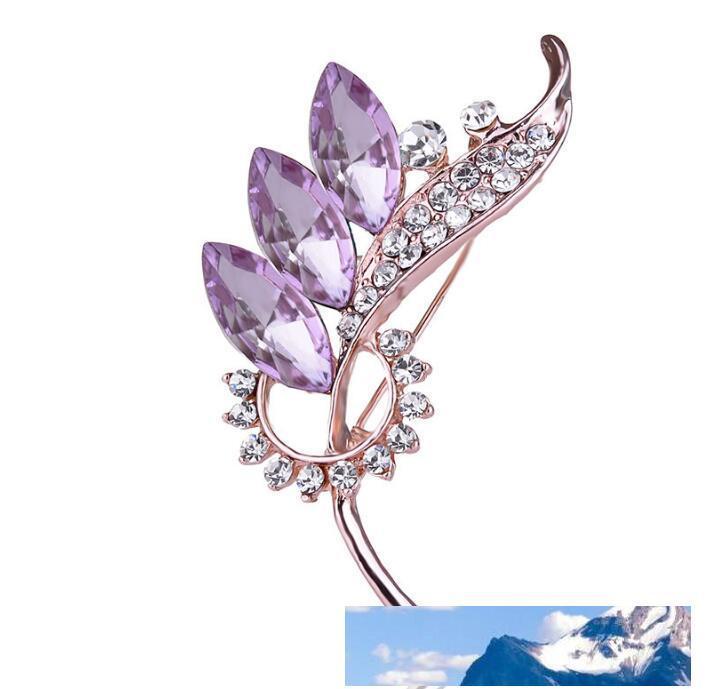 diamante lascia le donne Prom Spilla shirt Giacca di jeans Decor Partito Accessori Uomo 67