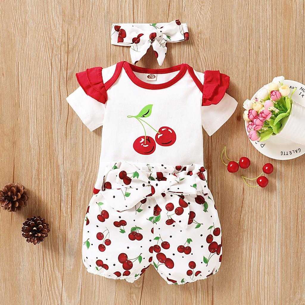 Mode schwarzer Freitag F001Girl Karikatur 2020 Sommer-neugeborenes Kind Kleidung Outfits Baby-Kleidung stellt G012