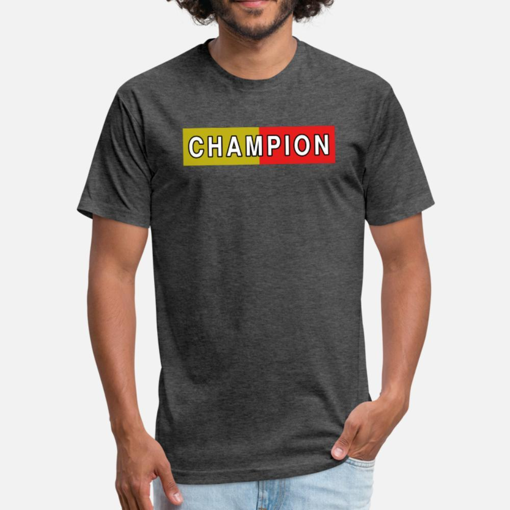 чемпион мерч тенниски мужчины Характер 100% хлопок шея экипажа Pattern Сумасшедшего Аутентичное лето Kawaii рубашка