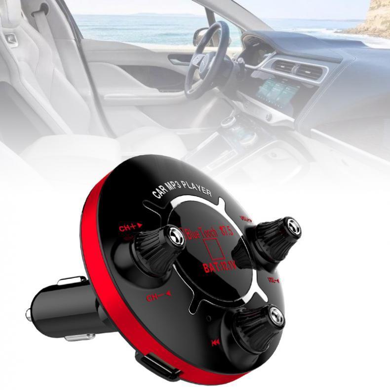 12V Bluetooth-Auto-FM-Freisprecheinrichtung Audio-Auto-MP3-Player-drahtlose In-Car FM-Modulator-Unterstützung Dual-AUX / Dual USB