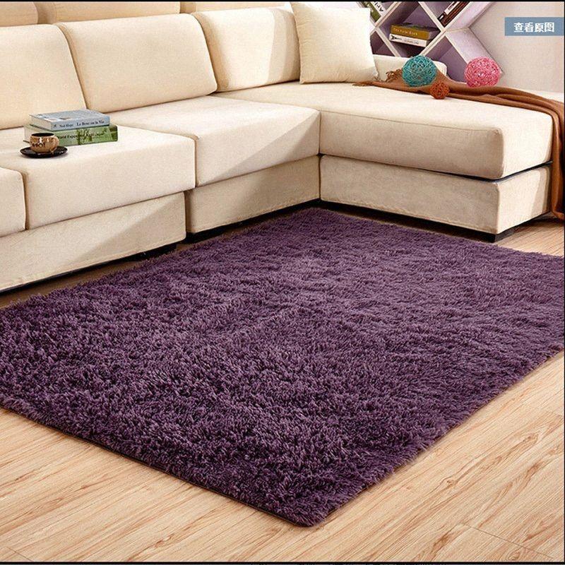 Verdicken gewaschener Seide Wolle Skid Resistant Teppich Wohnzimmer Couchtisch Schlafzimmer Nacht Yoga-Matten-Teppich Großer Teppich Schlafzimmer FGjs #