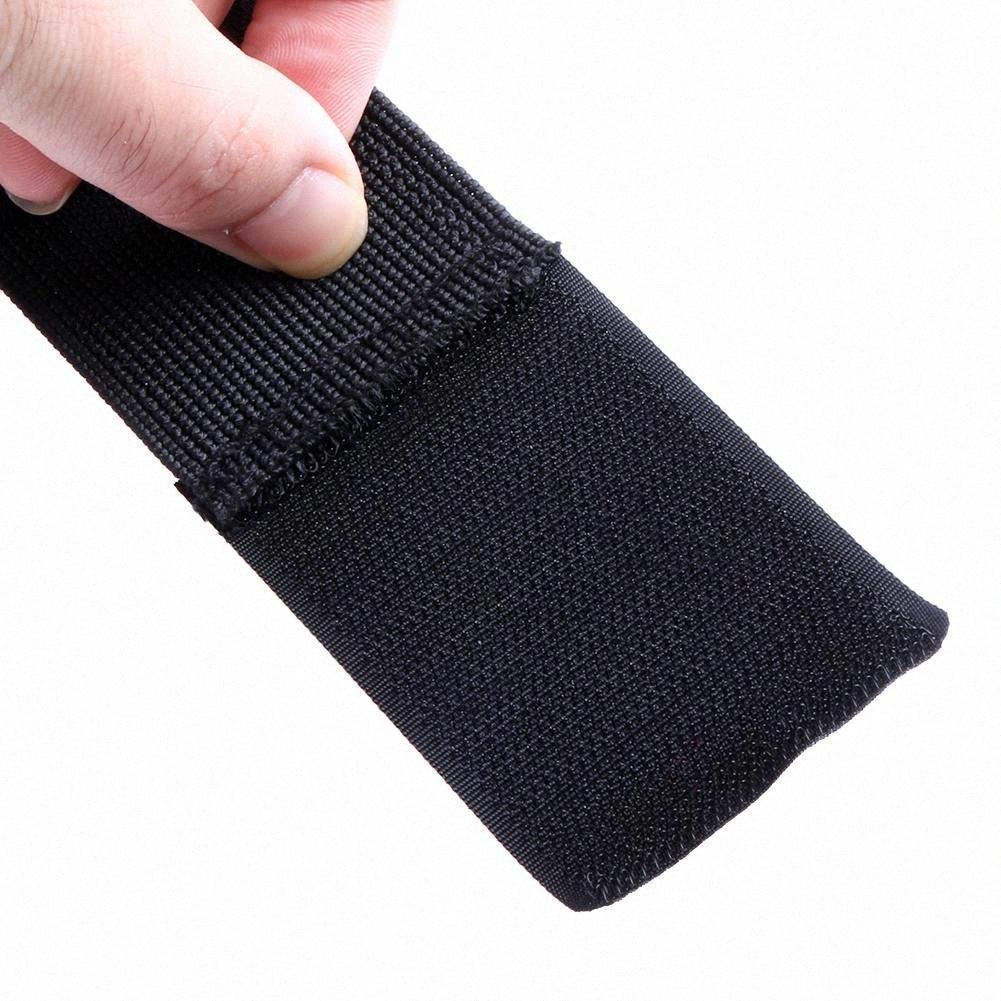1 PC Formación de nylon brazales Guante Peso del arma de caza de elevación Luces de entrenamiento deportivo reloj de vendaje anti de la resbalón medio dedo ejercicio de la gimnasia Fit DGau #