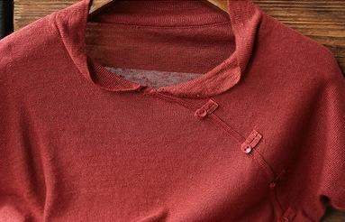 wOnz0 Летних нового художественного досуг свободного похудения стенд воротник Кроссбоди сплошного цвета белье футболка футболка свитер короткий Slee свитер женского