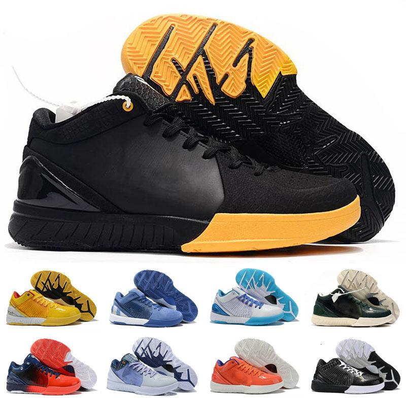 Hot MAMBA Zoom IV 4 5 Protro dia projecto Hornets Carpe Diem Del Sol Crianças Sports Basketball Shoes Mens ZK4 4s Sneakers