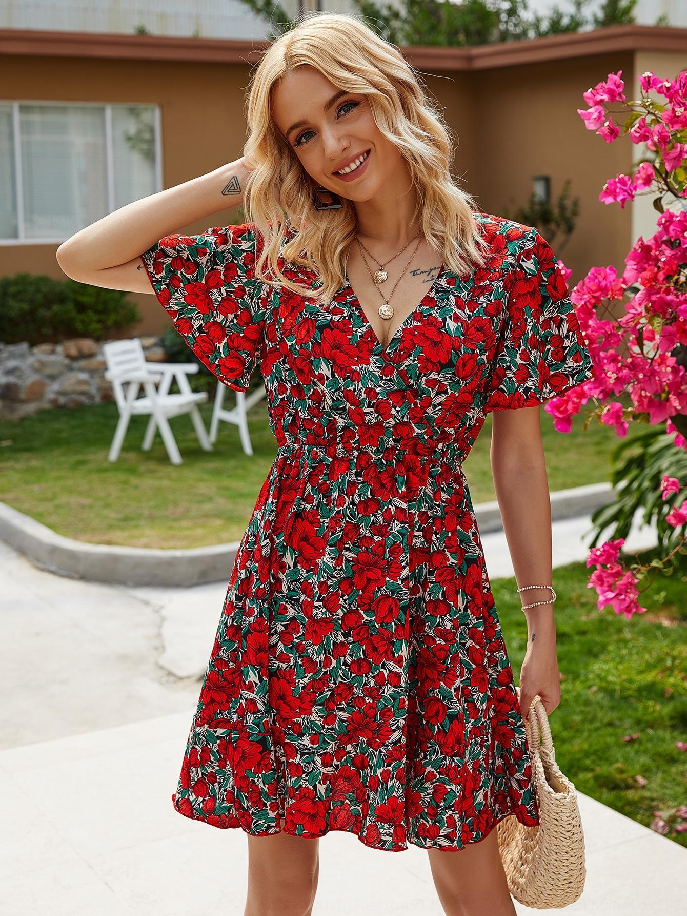 3LrBq 6RxVq 2020 лето модно лето новое платье женщин модно печататься платье 2020 напечатанных новых женщин