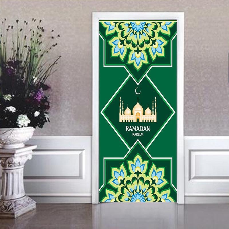 77x200cm красивого пейзажа дверь стикер украшение дома 3DS самоклеющаяся водонепроницаемые обои спальня гостиная фреска украшение