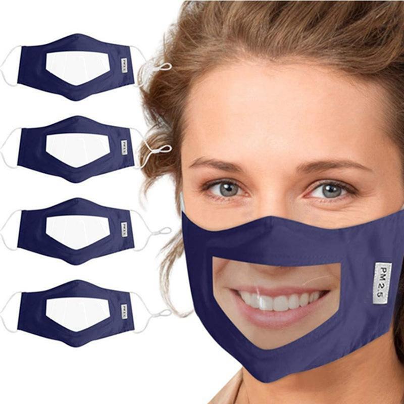 2020 Yeni Stiller Anti-sis Şeffaf Maskeler Ekose Pamuk Maske Sağır Dilsiz Tasarımcı Maskeler Anti Toz Ağız Kapak IIA266 Maske dudak