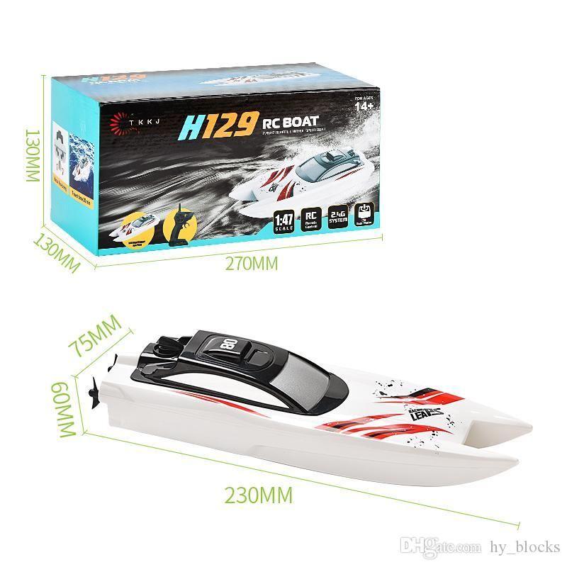 01h47 électrique RC Speed Boat 2.4G Radio Télécommande eau Sensing étanche Coque jouet pour enfants garçons extérieur cadeau 06