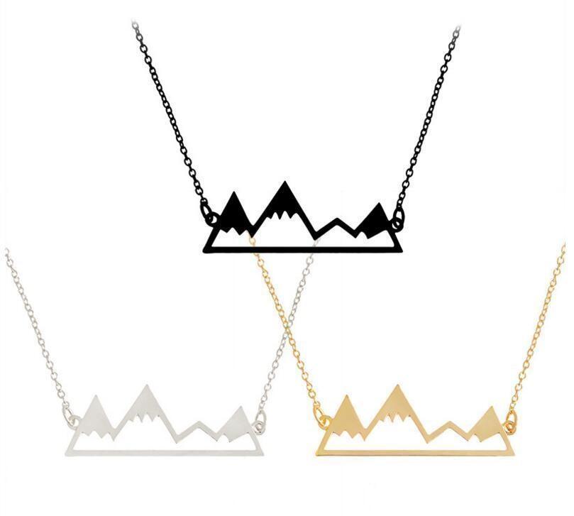 Kolye Damla kolye Nakliye ile Tepe Zincir Hediye İçin Dağ Takı 60 Moda Moq Adet Erkekler Altın Kadınlar Gümüş Hollow'un lihuibusiness FNDh