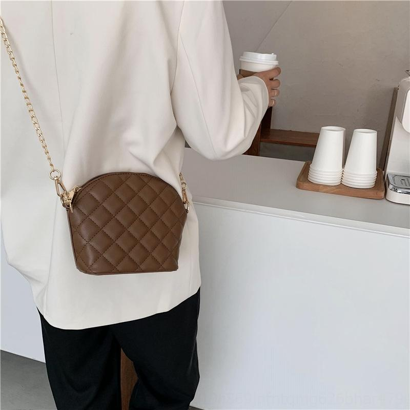 chics mode féminine messenger 2020 style postier package Shell Postman packageKorean début de l'automne nouveau brodé sur l'épaule de la mode rhombus