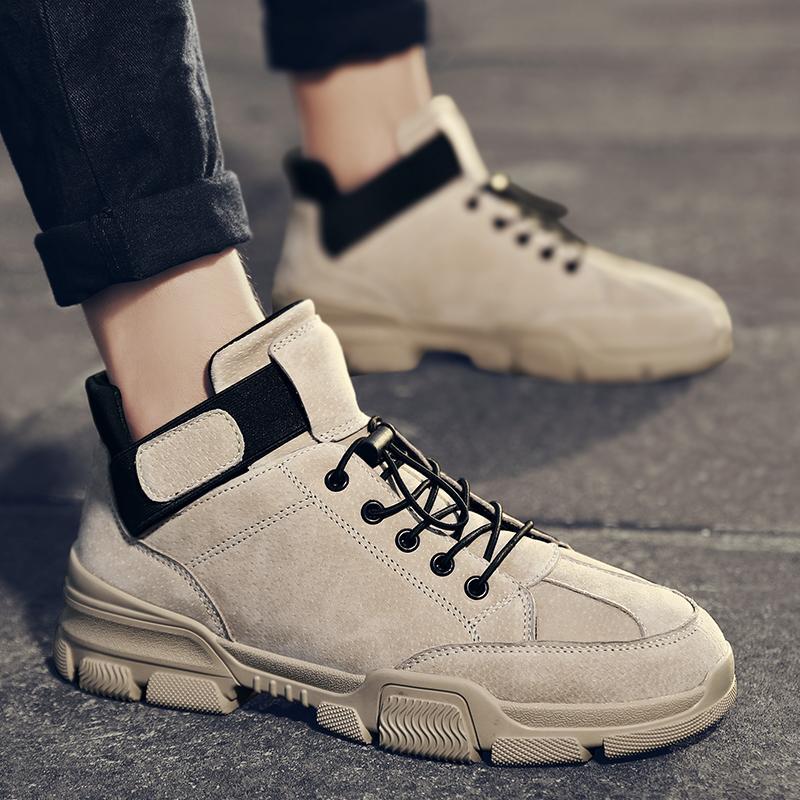 Stiefel hohe schuhe top sneaker kausal für freizeit tragen lässig leder männchen 2021 müßiggänger flache schuh herren sneakers männer mode
