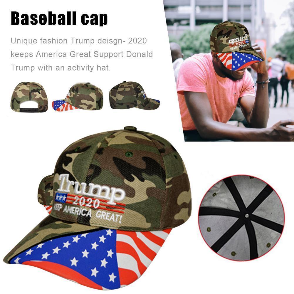 2020 Donald Trump cappello verde Camo rielezione Keep America Grande ricamo Usa Flag 2020 Donald llHHf