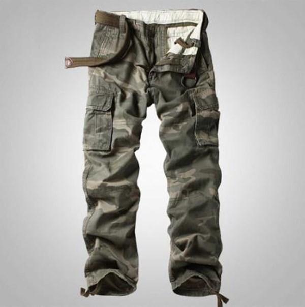 L'uomo Cargo Pants stile militare tattico dell'esercito pantaloni Pocket Pantaloni sciolti direttamente larghi pantaloni mimetici pantaloni da uomo Abbigliamento