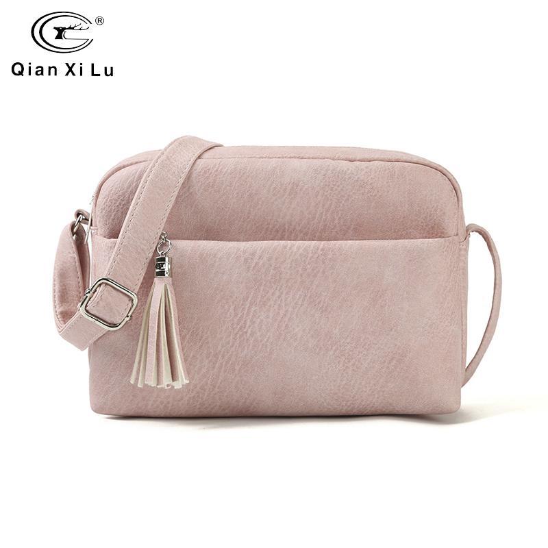 Women Ladies Handbag PU Leather Purse Zipper Small Messenger Crossbody Bag NEW