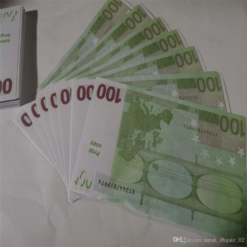 Nuevo 10 20 50 100 Euro dinero falso tocho tocho dinero Película de imitación 20 euros juego Colección y regalos M30