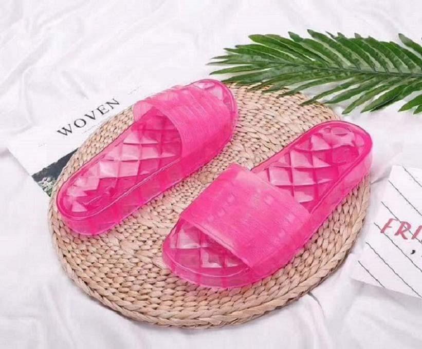 أحذية الرجال أزياء المرأة الصنادل الصيفية الشرائح شقق مثير من الجلد الحقيقي الصنادل منصة الشقق أحذية السيدات شاطئ SH02 CH2