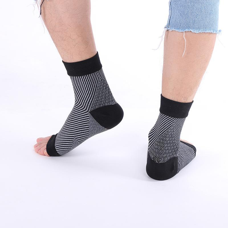 جديد للجنسين ضغط الكاحل جوارب مكافحة التعب تداول الضغط أصابع مفتوحة للتنفس زائد الحجم ملابس داخلية جوارب للرجال هدايا