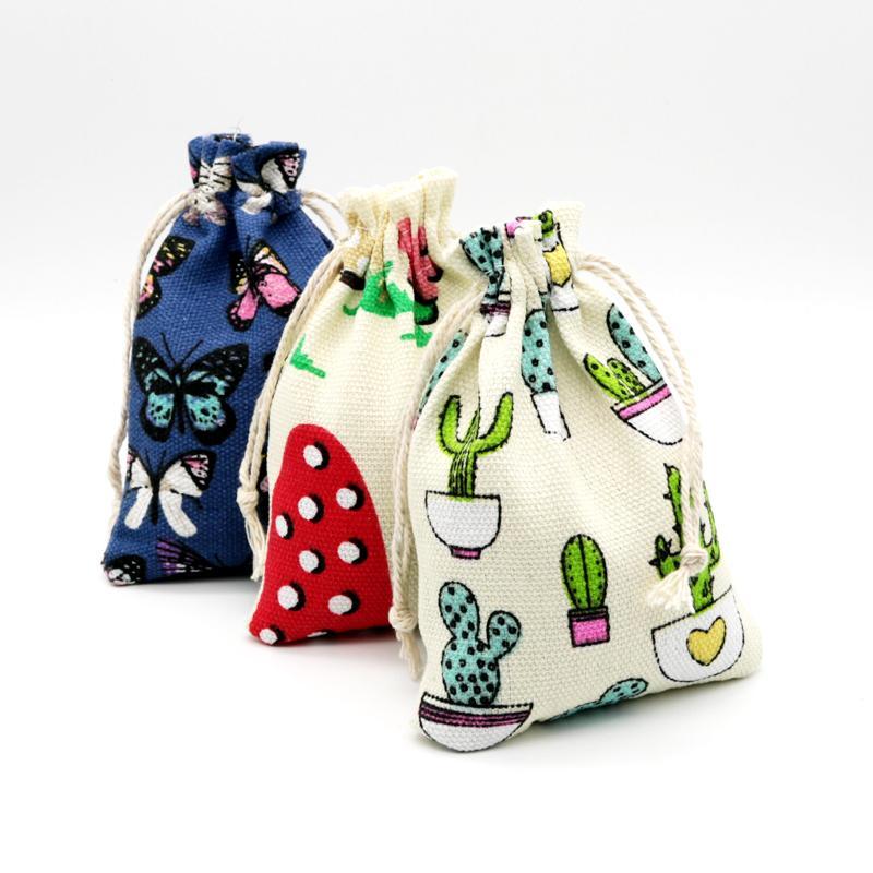Ювелирные изделия сумки, сумки 10x14 см сумка на стрижках сумка подарок рождественские украшения свадебные мешочки